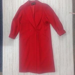 Vintage Full Length Wool Designer Collection Coat